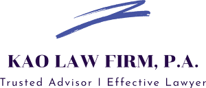 Pineland Child Support Lawyer kao law logo 300x128